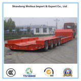 Low Bed Semi Truck Trailer with Draw and Pull - out Type