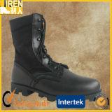 De zwarte Klassieke Laarzen van de Wildernis van de Anderhalve liter fles van de Laars van de Veiligheid van de Stijl Militaire