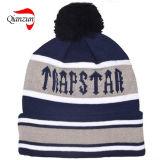 Negro gris de los sombreros de la gorrita tejida del telar jacquar de Customed