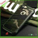 Armadura dupla do exemplo do defensor camuflar do exército da camada da absorção de choque para o iPhone 6s
