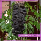 安いレースの前部閉鎖の部分の毛の閉鎖