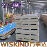China Wiskind termoaislante panel sándwich PU rígido para Wall