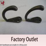 Крюки кота вешалки одежд двойника конструкции сплава цинка красивейшие (ZH-2024)