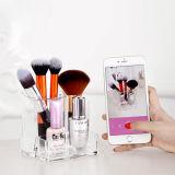 Rectángulo de almacenaje cosmético de acrílico transparente del cepillo del diseño de la manera del nuevo producto