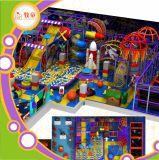 Спортивная площадка Trampoline крытая для замока малышей сбывания и скольжения стеклоткани