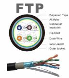 옥외 FTP Cat5e Cable 0.5copper 4pair 24AWG Pass Fluke Test