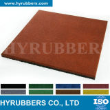 Mattonelle di gomma colorate briciola di gomma riciclate, mattonelle di pavimento di gomma, stuoia di gomma