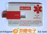 Impulsión de la tarjeta de crédito del flash del USB del regalo promocional (OM-P505)