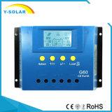 60A 12V/24V Sonnenkollektor-Zelle PV-Ladung-Controller G60