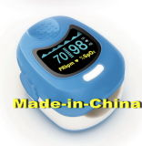 Moniteur de l'oxygène SpO2 de sang d'oxymètre d'impulsion de bout du doigt (CMS50QB)