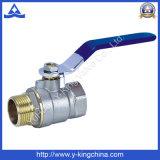 Латунный шариковый клапан с счетчиком воды замка (YD-1010)