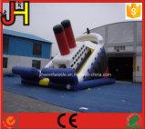 سفينة قابل للنفخ [تيتنيك] قابل للنفخ [تيتنيك] منزلق قابل للنفخ [تيتنيك]