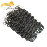 Extensions 100% humaines de bonne qualité de cheveu de Vierge d'Alimina