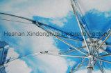 Parapluies se pliants ouverts de pluie de type de transfert thermique de plein manuel européen d'impression (FU-3821ZC)