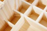 Sostenedor de botella natural de encargo de petróleo esencial de madera de pino