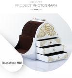 De aangepaste High-End Elegante MDF van de Luxe Witte Doos van Juwelen