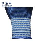13의 계기 파란 얼룩말은 입힌 니트릴을%s 가진 안전 장갑을 줄무늬로 한다