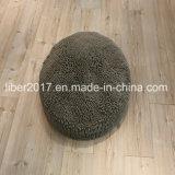 Producto redondo del animal doméstico del juguete del gato de la estera del colchón de la base del perro del color del paño gris durable de la fregona pequeño