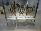 椅子を食事する無限金のステンレス鋼の結婚式