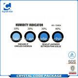 Escritura de la etiqueta profesional de la etiqueta engomada del indicador de humedad de la alta calidad del diseño