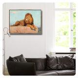 Retrato animal da parede da pintura a óleo da lona com frame