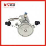 Manualmente y válvulas asépticas del muestreo de la soldadura de la operación neumática
