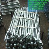 Montants en acier galvanisés d'IMMERSION chaude pour des balustrades d'échelle et de plate-forme