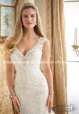 Платье венчания Mermaid Tulle разработанного шнурка Morilee Mori Lee Beaded безрукавный (Dream-100041)
