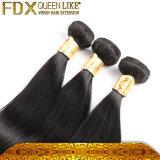 試供品の毛はきれいで健全なインドのまっすぐな人間の毛髪を束ねる