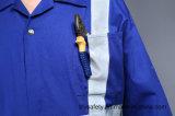 Uniforme 100% ignifuge de sûreté de Proban de coton avec la bande r3fléchissante