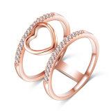 Più nuovo anello del cuore placcato dei monili di Bling oro (CRI1035)