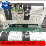 4 Machine van de Druk van het Document van de Verpakking van kleuren de Bruine Flexographic