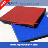 Recyled Playground Area Rubber Tiles / Square Interlock Rubber Tile