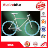 Алюминий Китая дешевый исправил Bike шестерни цвет 26 дюймов голубой белый с европейскими компонентами для сбывания с кожаный седловиной