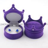 Популярная сформированная крона Flocked коробка Earrig кольца ювелирных изделий бархата пластичная