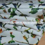 Cetim de matéria têxtil da arte do cetim da flor de Pinted para o vestido bonito clássico