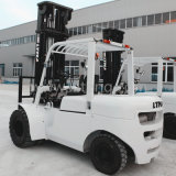 Forklift chinês com o Forklift do diesel do mastro 5t de 7m