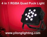 Het hete Verkopen in het LEIDENE van de Vierling RGBW van de V.S. 12PCS Licht van de Puck