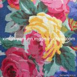 Tela de lino de la mezcla del algodón de la impresión para la ropa/la cortina/la tapicería