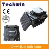Máquina del empalme de Fujikura igual a la encoladora de la fibra de la óptica de fibras del cable de Techwin