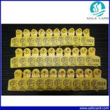 O número de Tag animal elevado da orelha de Quanlity e o código de barras imprimiram para a gerência animal