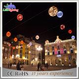 indicatori luminosi della stringa della sfera della ghirlanda LED del PVC della decorazione di festa di natale 3D
