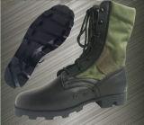 軍の本革の流行のキャンバスの軍の戦闘用ブーツ