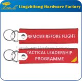 Kundenspezifische Stickerei entfernen vor Flug Keychains