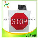 Alto Brilho Triângulo Solar LED Alimentado Traffic Sign