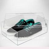 Caso di visualizzazione acrilico del contenitore di pattino della scarpa da tennis di qualità eccellente