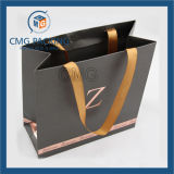 Вогнутое-Convex Logo Luxury Paper Bag с Wide Silk Ribbon (CMG-MAY-021)