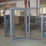 Finestra di alluminio della stoffa per tendine di alta qualità con la lastra di vetro K03049 di difficoltà