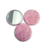cadeau de promotion en métal de 58mm pour Madame Cosmetic Mirror Travel Mirror