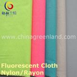 Nylonrayon 13s/10s fluoreszierte Twill-Verzerrungspandex-Gewebe für Hemd-Kleid (GLLLDYG001)